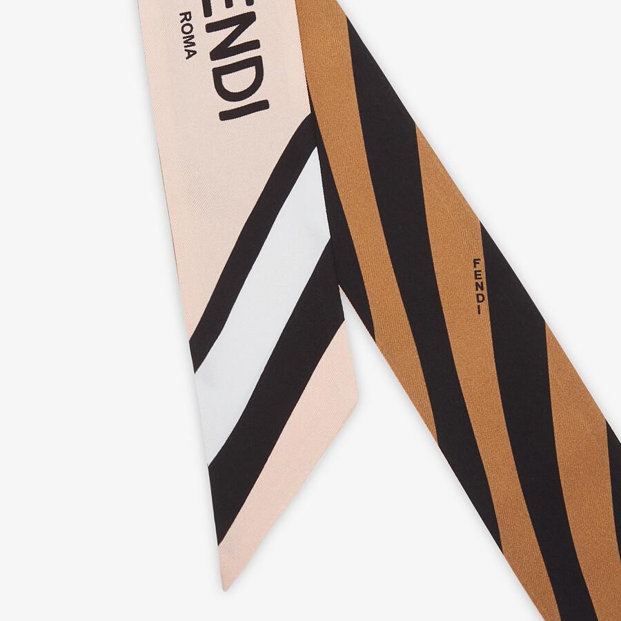 FENDI WRAPPY - Multicolor silk bandeau - view 2 detail