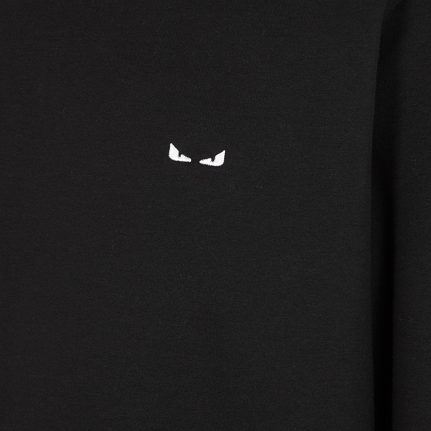 FENDI SWEATSHIRT - Black cotton - view 3 detail