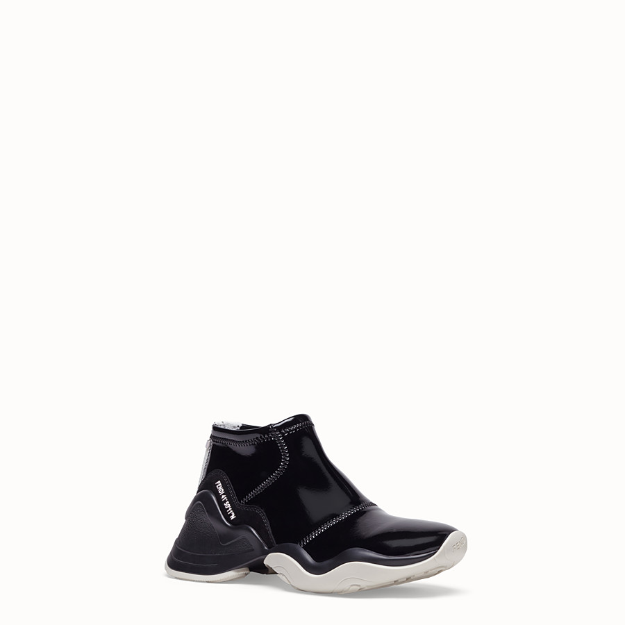 FENDI SNEAKERS - Sneakers in glossy black neoprene - view 2 detail