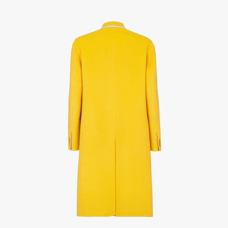 FENDI COAT - Yellow cashmere coat - view 2 detail
