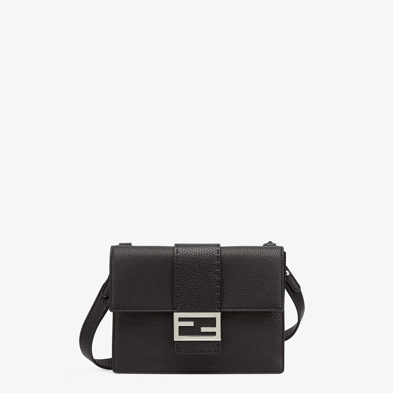 FENDI FLAT BAGUETTE - Black leather bag - view 1 detail