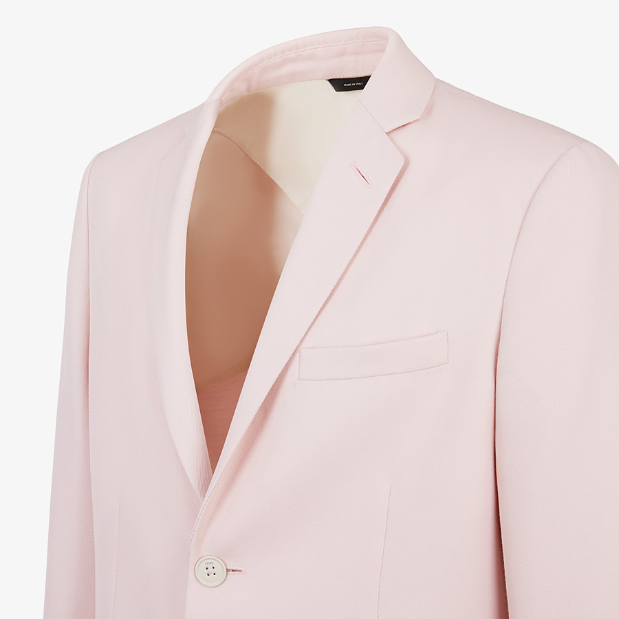 FENDI JACKET - Pink wool blazer - view 3 detail