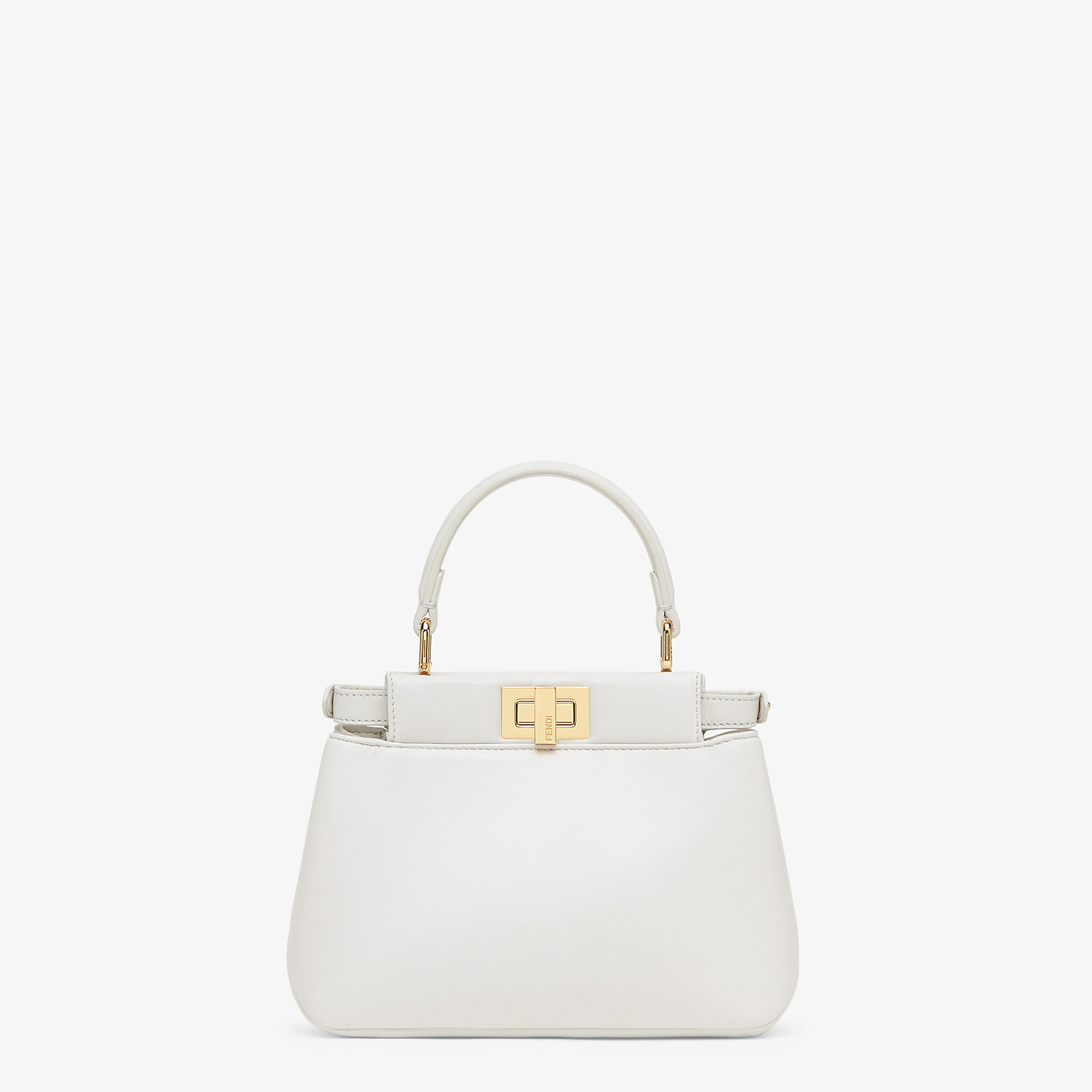 FENDI PEEKABOO ICONIC XS - White nappa leather bag - view 4 detail