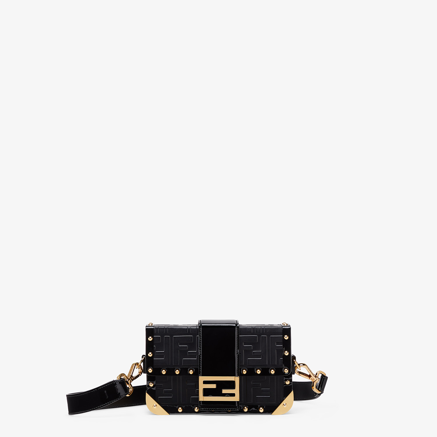 FENDI BAGUETTE TRUNK MINI - Black leather bag - view 1 detail