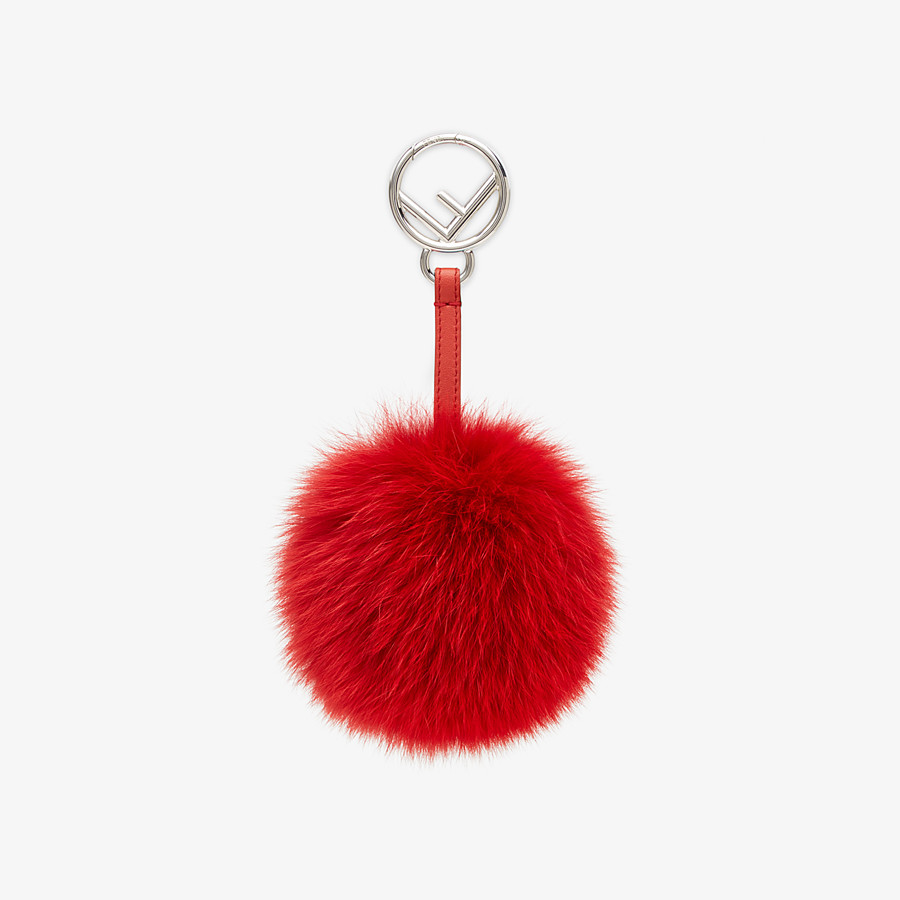 FENDI POM-POM CHARM - Red fox fur charm - view 1 detail