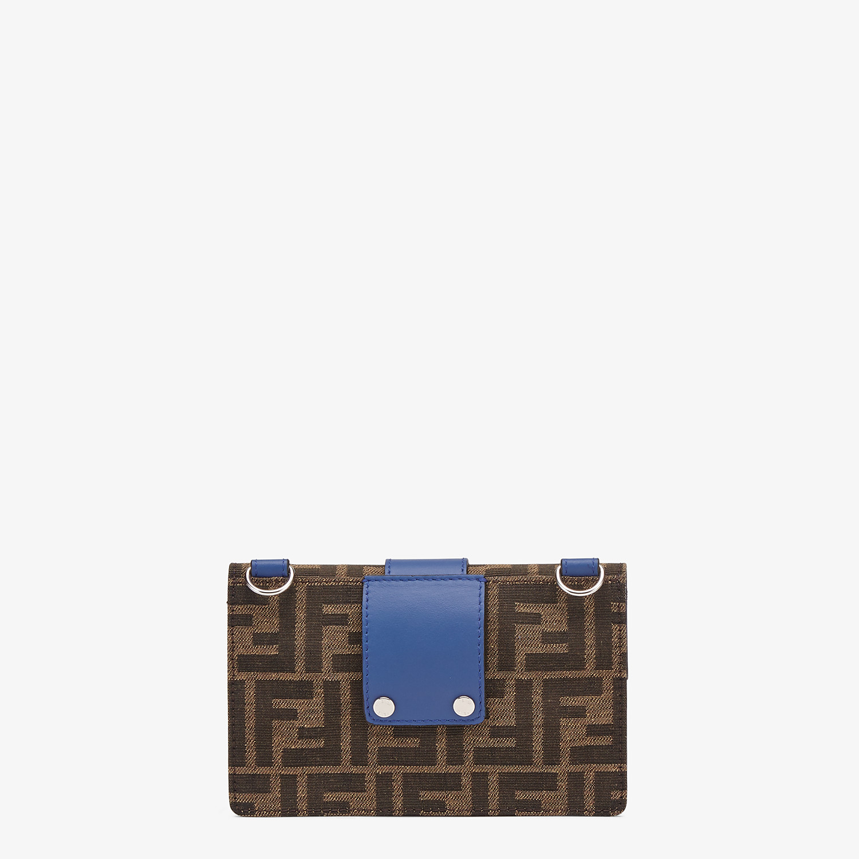 FENDI BAGUETTE POUCH - Brown fabric bag - view 3 detail