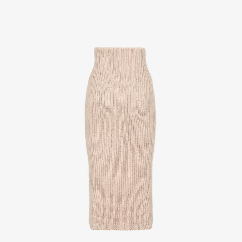 FENDI SKIRT - Pink mohair skirt - view 2 detail