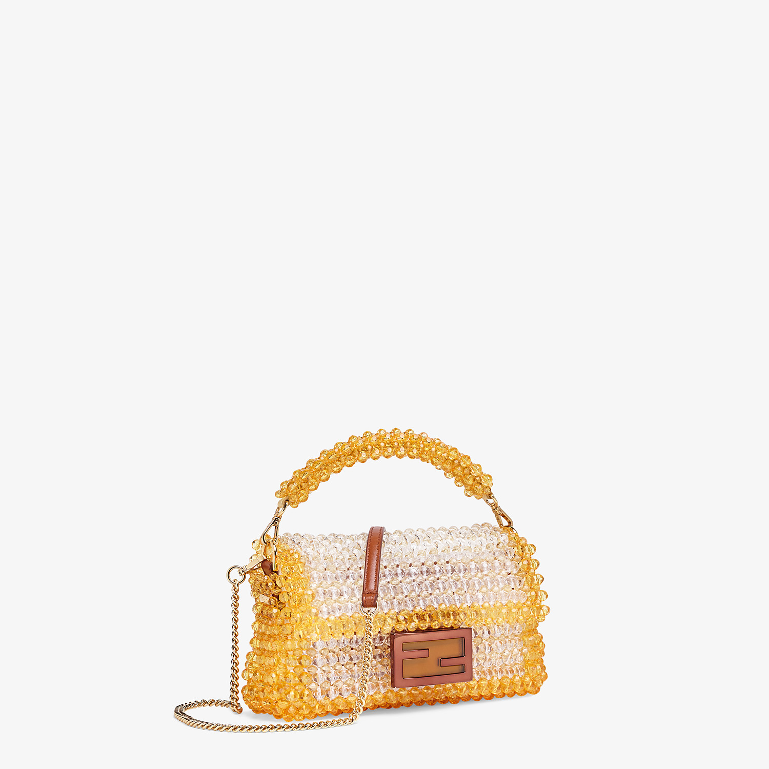 FENDI BAGUETTE - Bag with yellow beads - view 2 detail