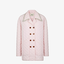 FENDI JACKET - Pink quilted crêpe de chine jacket - view 1 thumbnail
