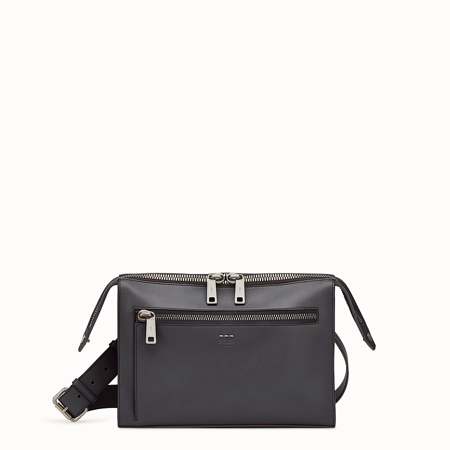 FENDI DOCUMENT HOLDER - Smooth black leather bag - view 1 detail