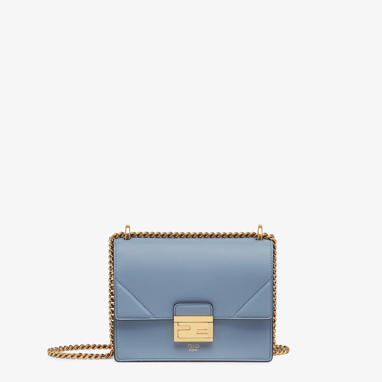 FENDI KAN U SMALL - Light blue leather mini-bag - view 1 detail