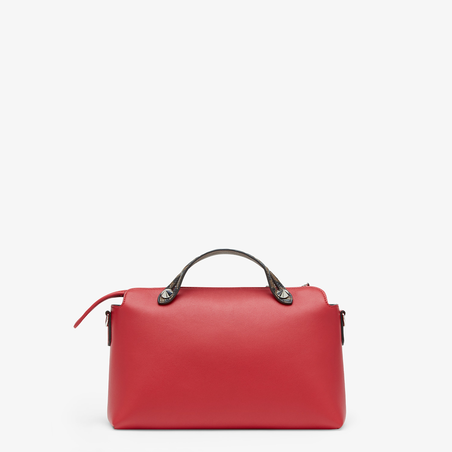 FENDI BY THE WAY MEDIUM - Red leather Boston bag - view 4 detail