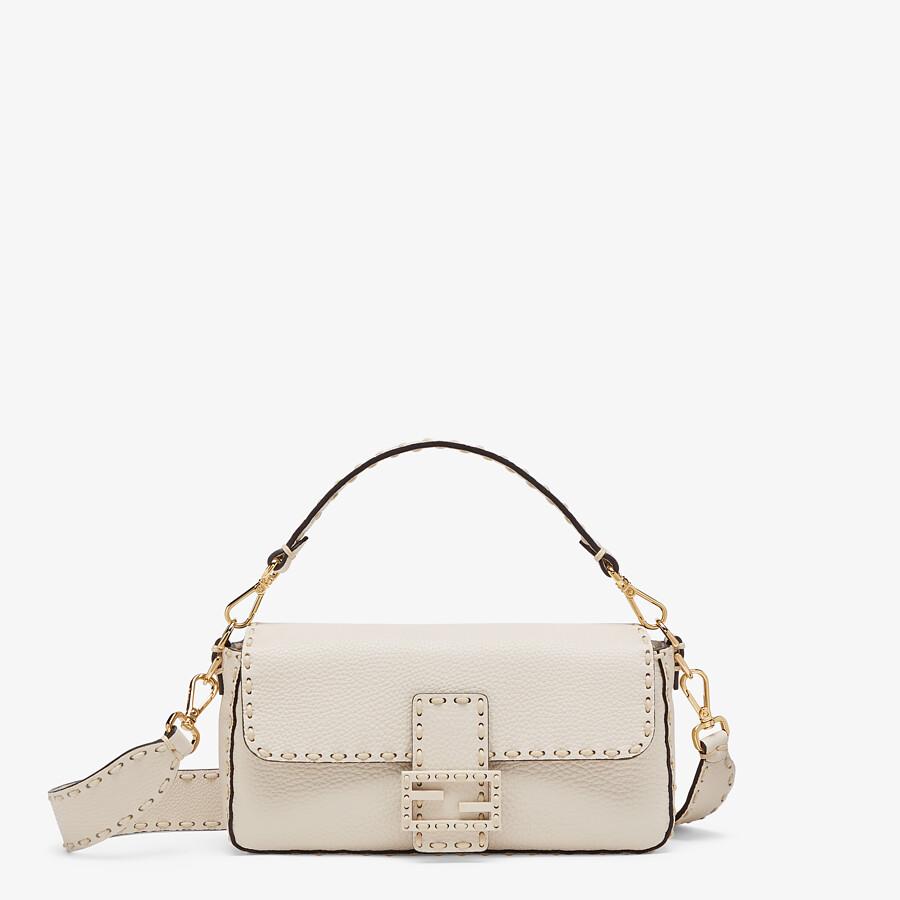 FENDI BAGUETTE - White full grain leather bag - view 1 detail