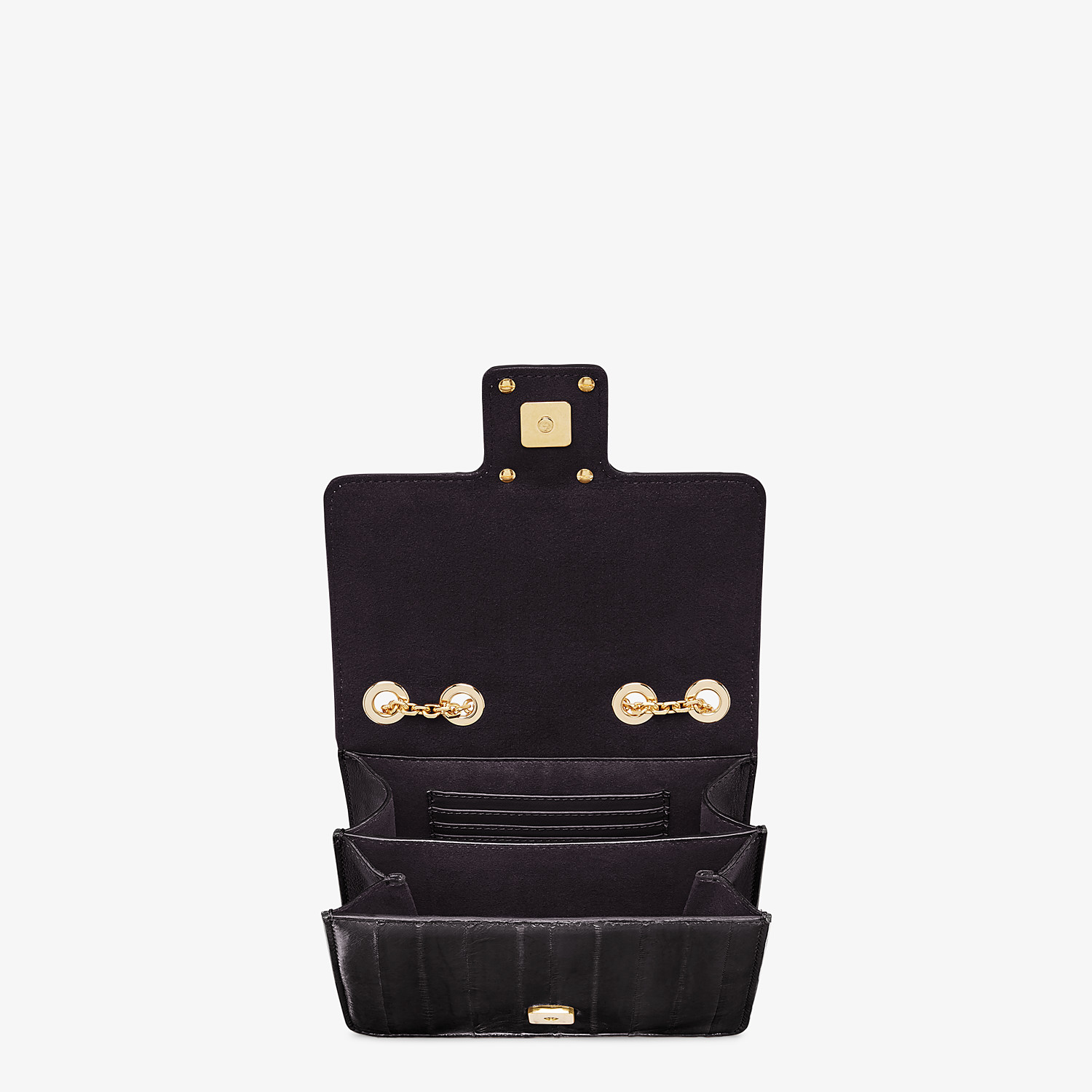 FENDI FENDI FAB - Black eel leather bag - view 4 detail
