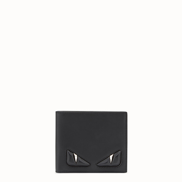 FENDI WALLET - Black leather bi-fold with inlays - view 1 small thumbnail