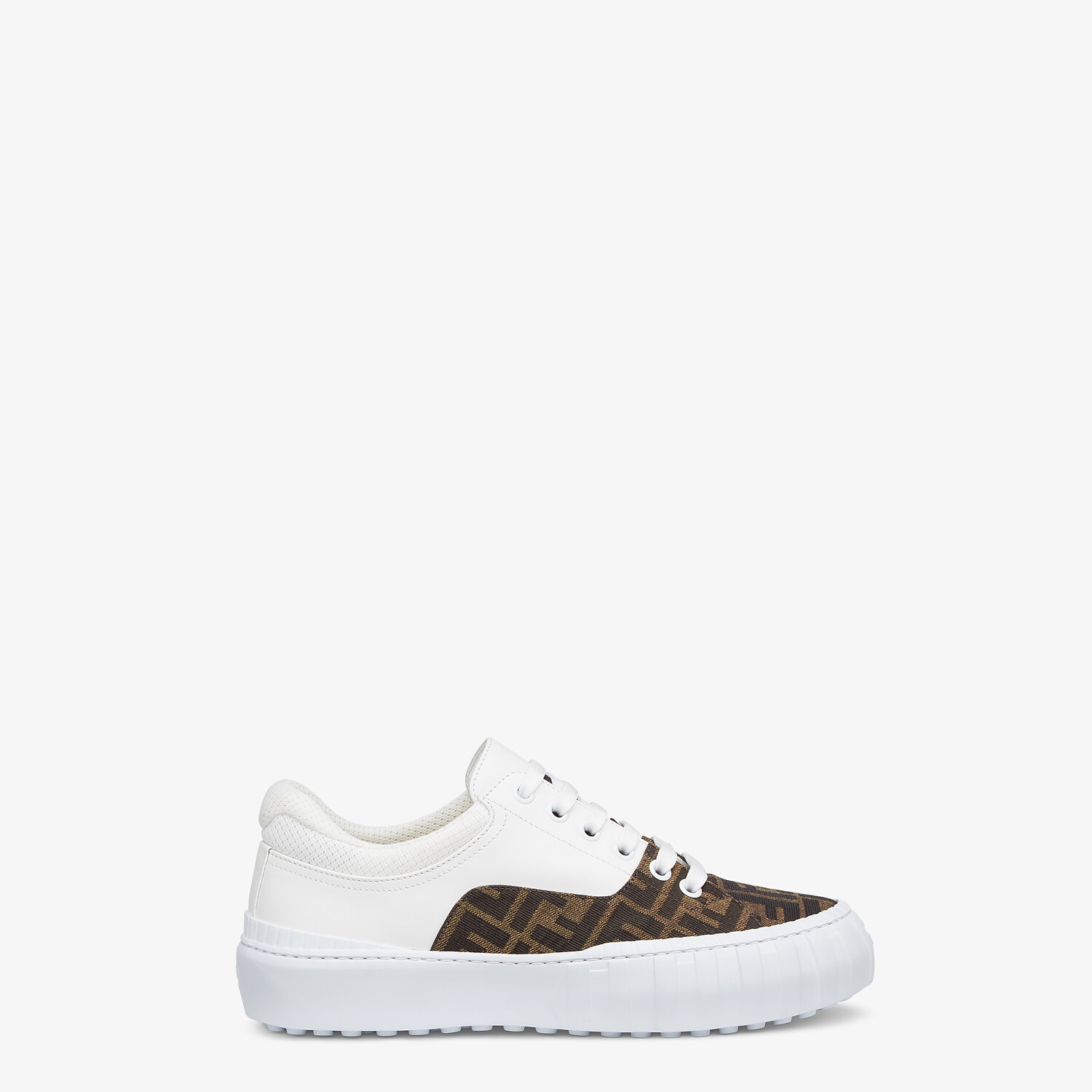 FENDI SNEAKERS - Brown fabric low-tops - view 1 detail