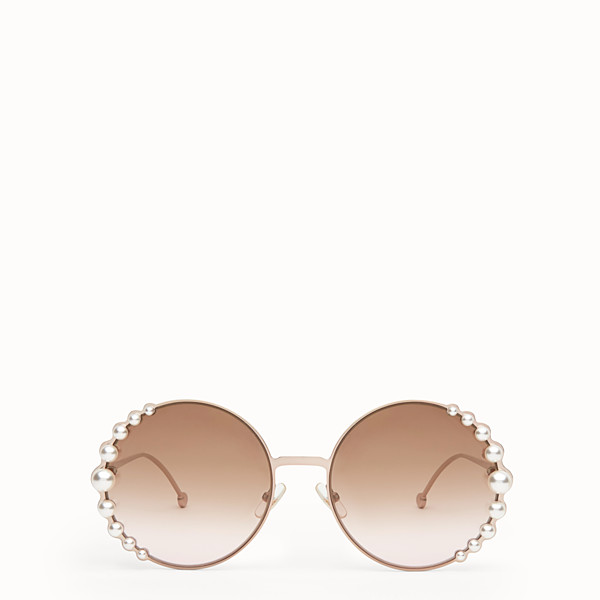FENDI RIBBONS AND PEARLS - Metallic pink sunglasses - view 1 small thumbnail