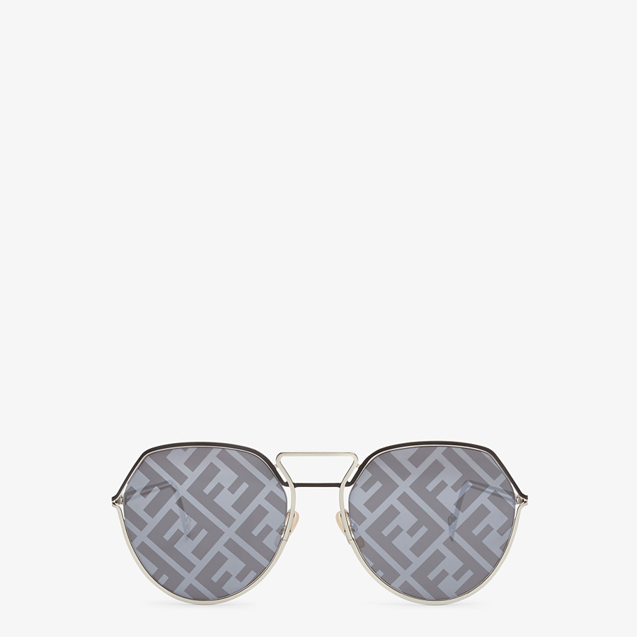 FENDI FENDI GRID - Black and palladium sunglasses - view 1 detail