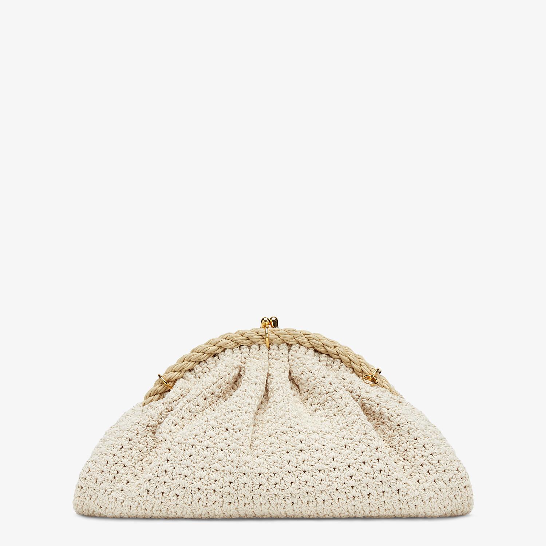 FENDI SHELL - White cotton-crochet pochette - view 4 detail