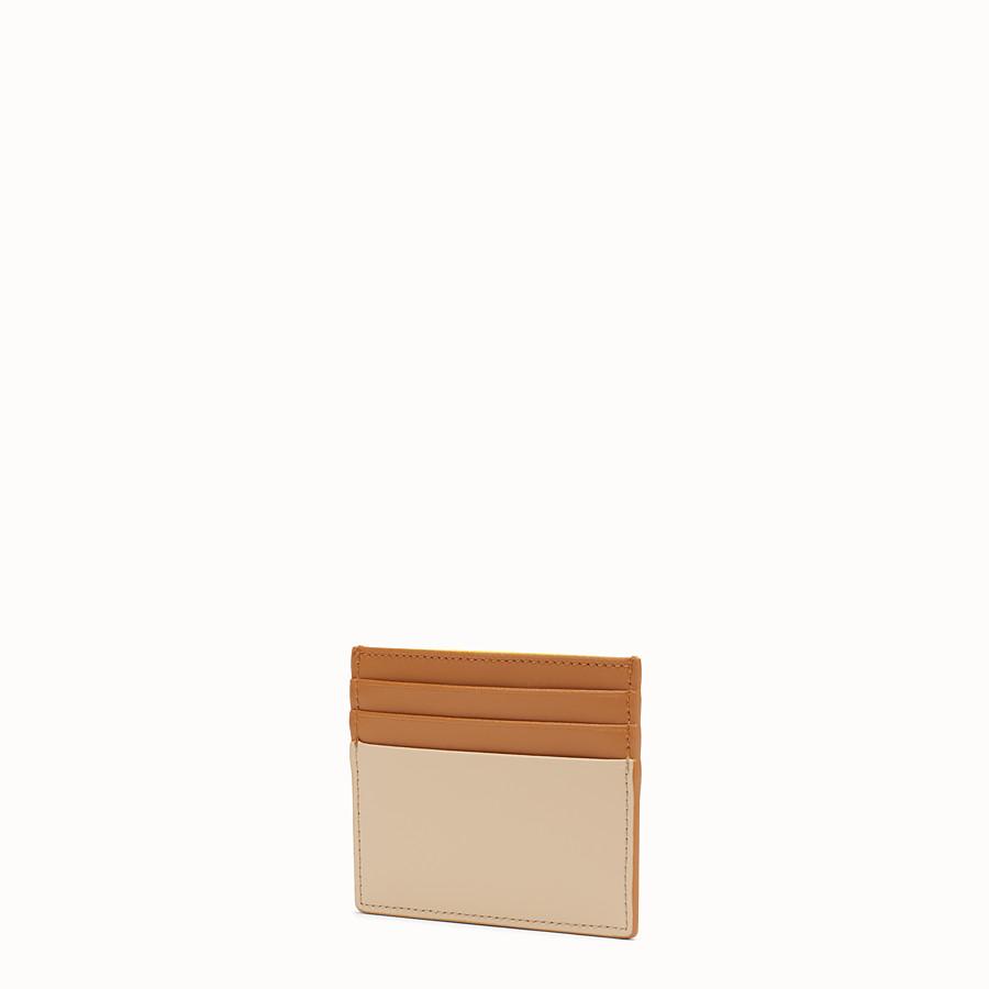 FENDI 카드 홀더 - 멀티 컬러의 플랫 가죽 카드 홀더 - view 2 detail