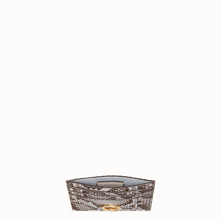 FENDI CARD HOLDER - Flat grey python card holder - view 4 detail