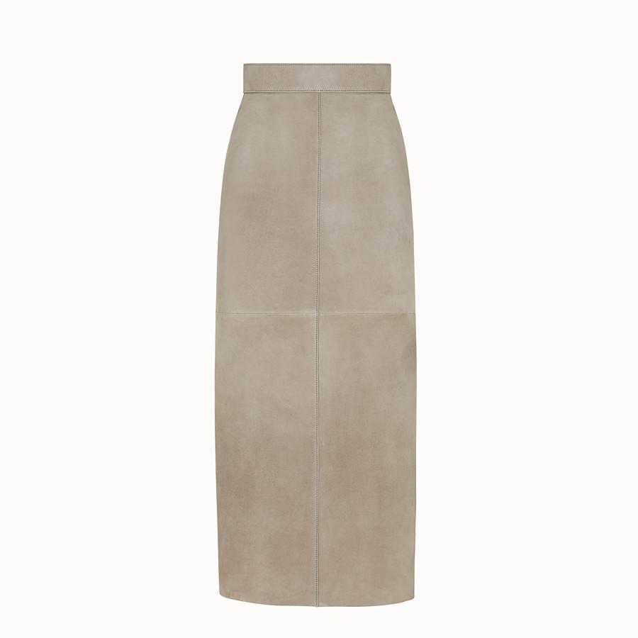 FENDI SKIRT - Beige suede skirt - view 1 detail