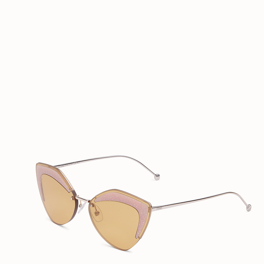 FENDI FENDI GLASS - Gold-coloured sunglasses - view 2 detail