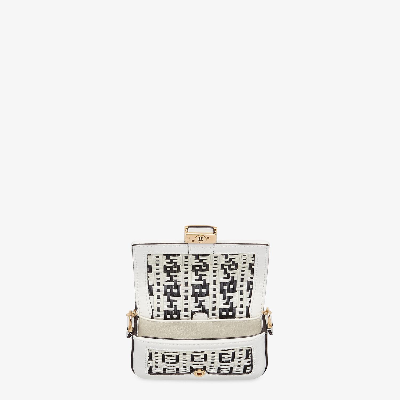FENDI NANO BAGUETTE CHARM - White leather charm - view 4 detail