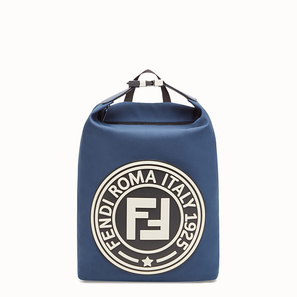 FENDI BACKPACK - Blue canvas backpack - view 1 small thumbnail