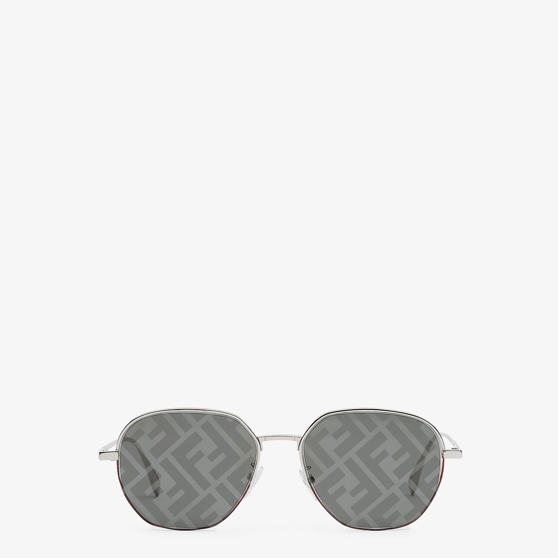 FENDI FENDI TRAVEL - Palladium-colored sunglasses - view 1 detail