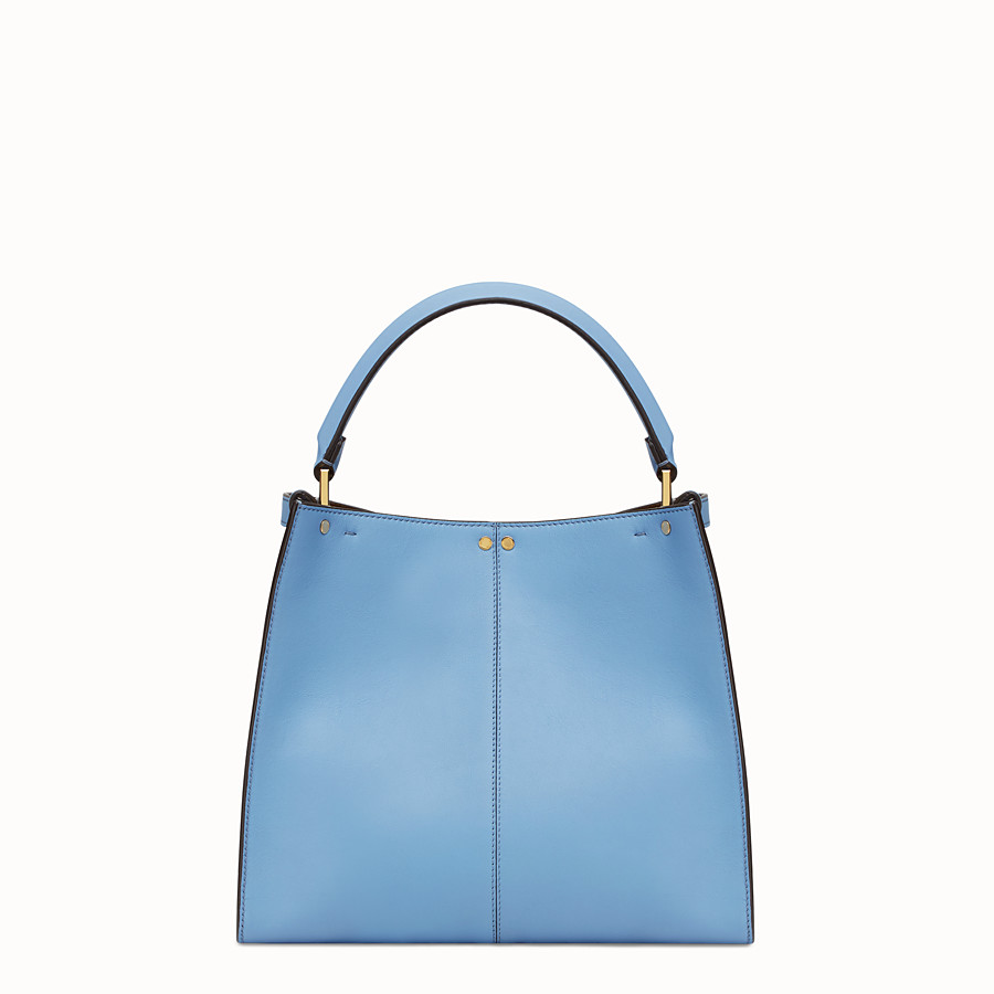 FENDI PEEKABOO X-LITE REGULAR - Pale blue leather bag - view 4 detail