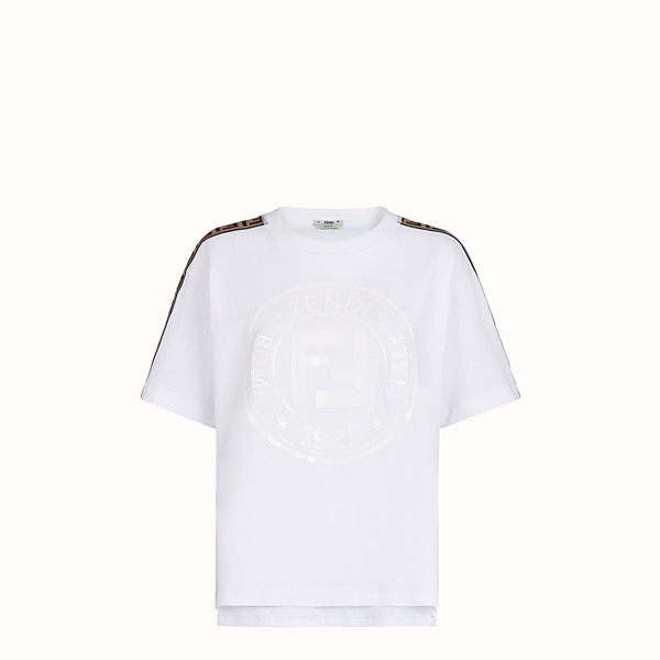 FENDI T-SHIRT - T-Shirt aus Jersey in Weiß - view 1 small thumbnail