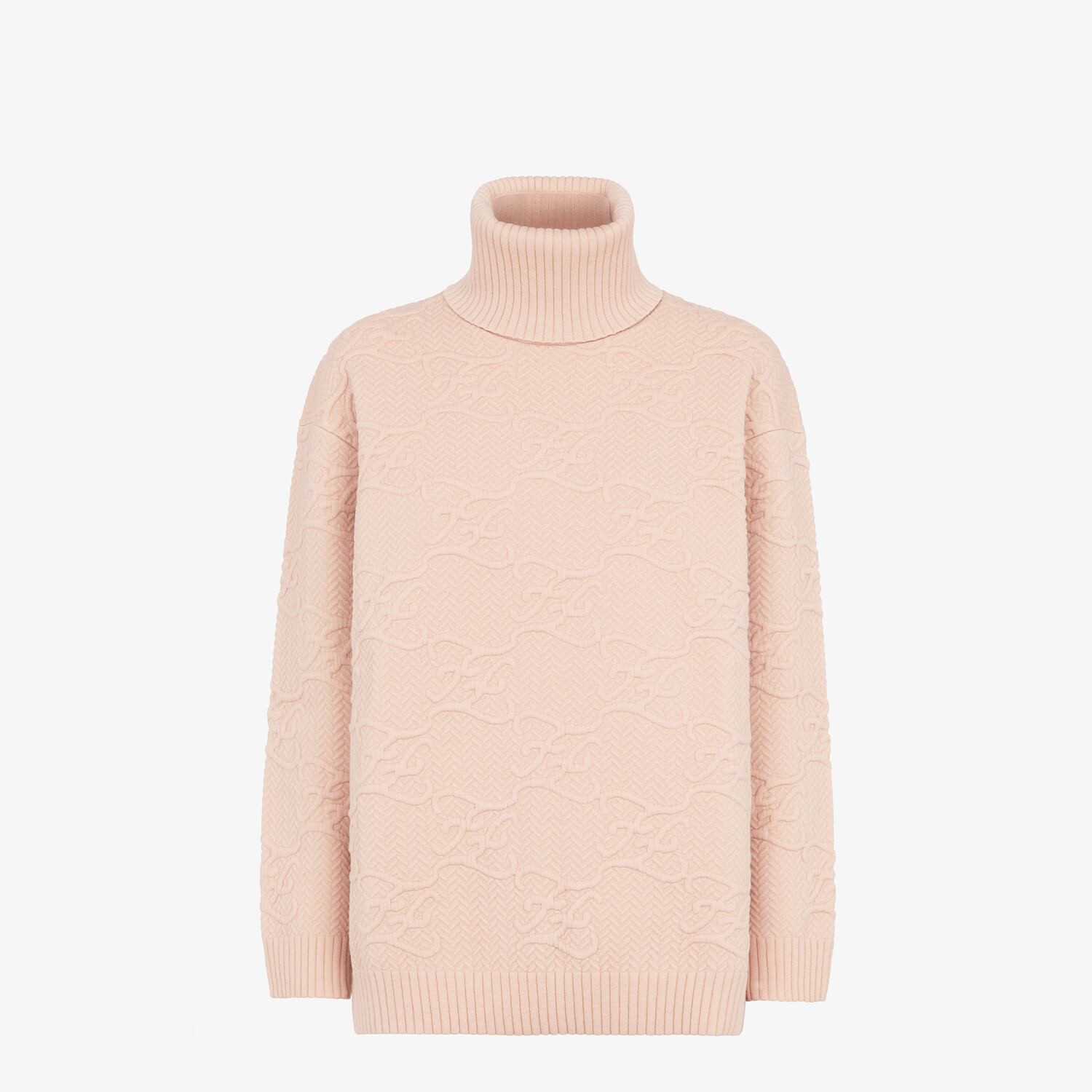 FENDI SWEATER - Pink wool and cashmere sweater - view 1 detail