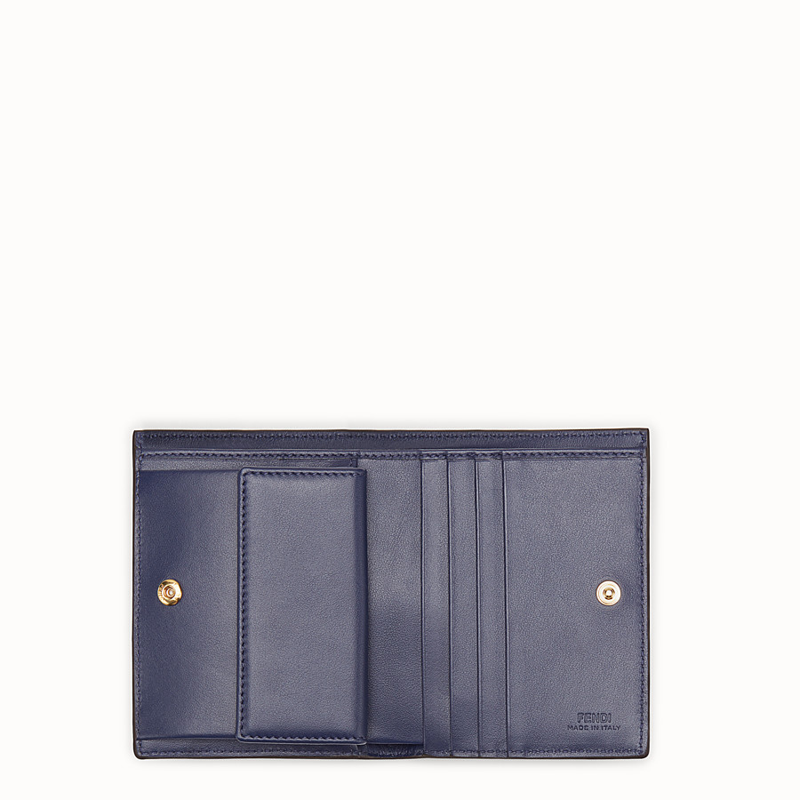 FENDI BIFOLD - Blue leather compact wallet - view 4 detail