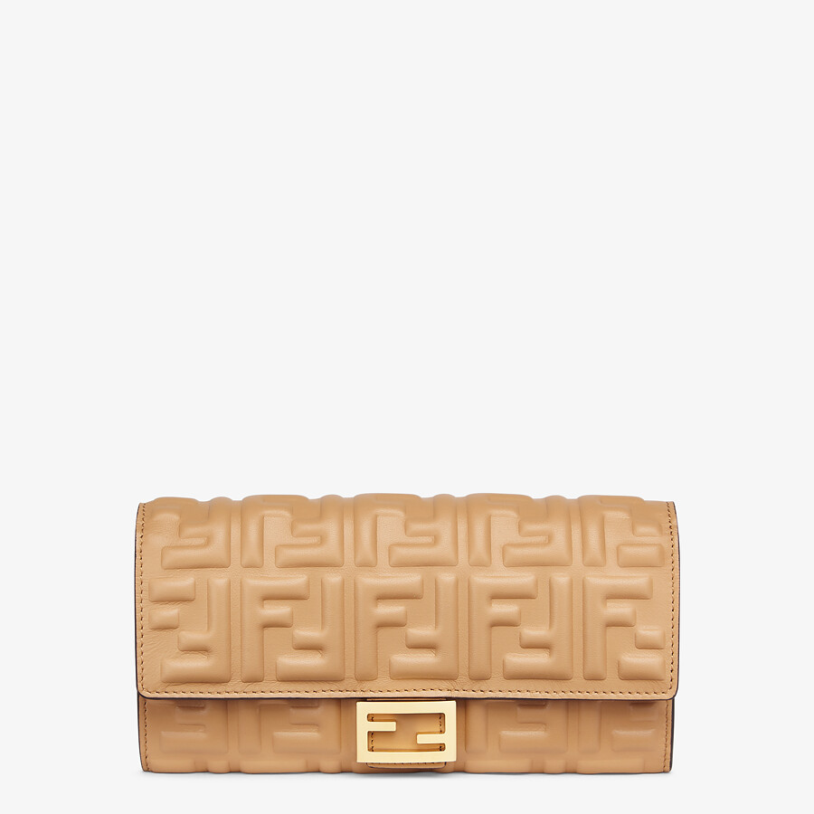 FENDI CONTINENTAL - Beige nappa leather wallet - view 1 detail