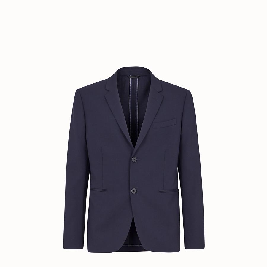 FENDI GIACCA - Blazer in lana blu - vista 1 dettaglio