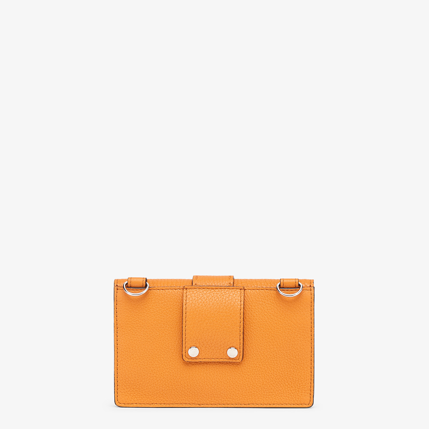 FENDI BAGUETTE POUCH - Orange leather bag - view 3 detail
