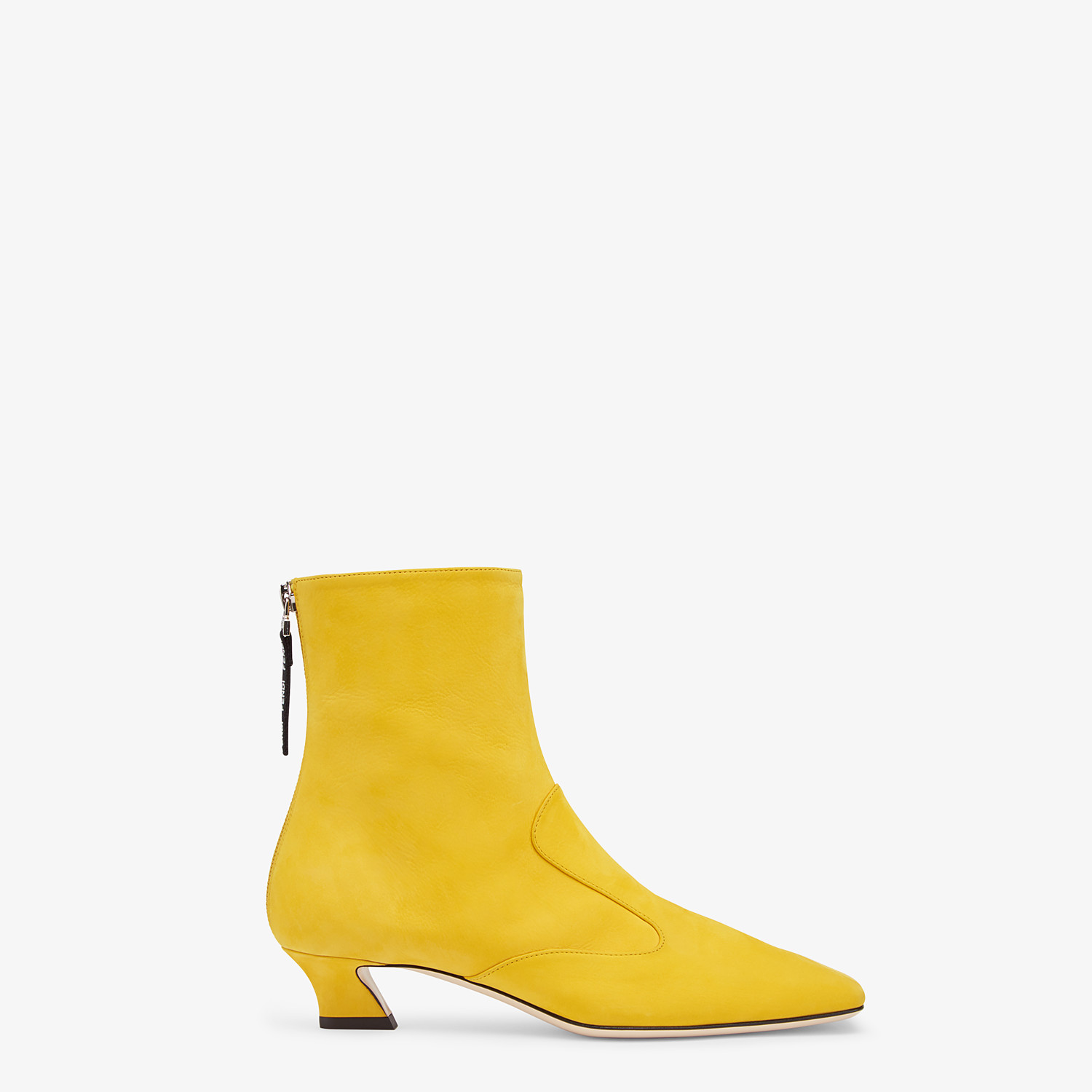 FENDI ANKLE BOOTS - Yellow nubuck booties - view 1 detail