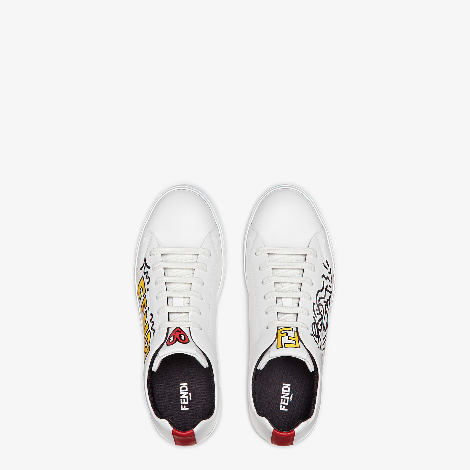 FENDI SNEAKERS - Leather low tops from the Mr. Doodle capsule - view 6 detail