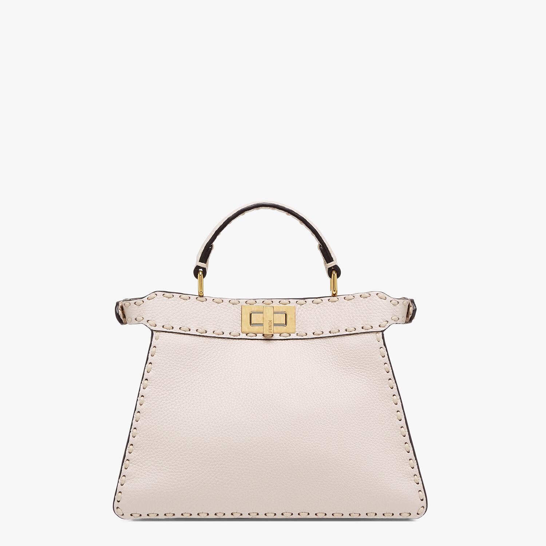 FENDI PEEKABOO ISEEU SMALL - White full grain leather bag - view 4 detail