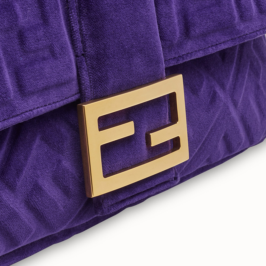 FENDI BAGUETTE LARGE - Purple velvet bag - view 5 detail