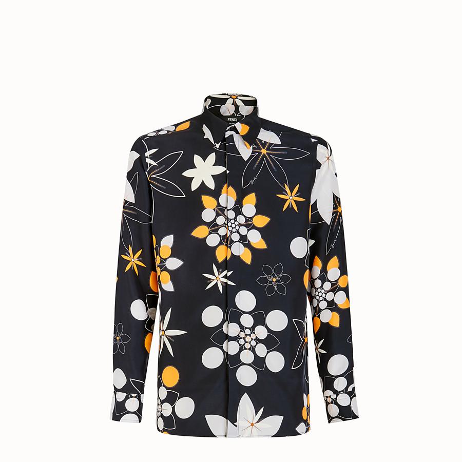 FENDI CAMICIA - Camicia in seta nera - vista 1 dettaglio