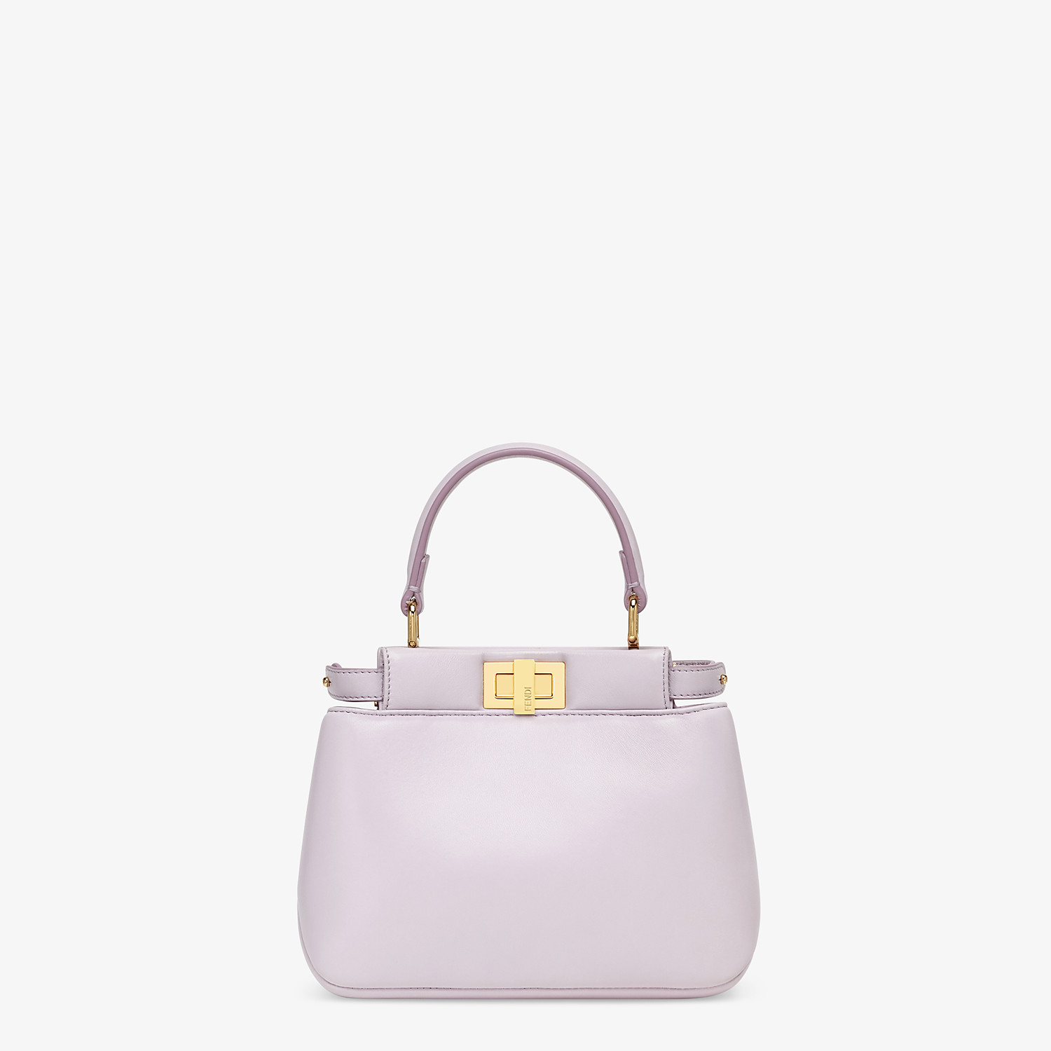 FENDI PEEKABOO ICONIC XS - Lilac nappa leather bag - view 1 detail