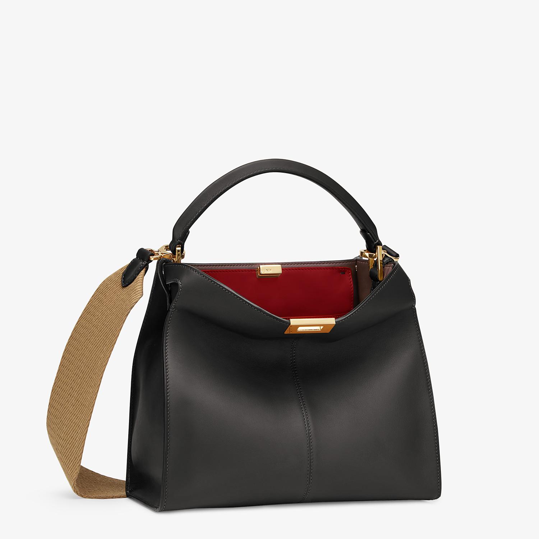 FENDI PEEKABOO X-LITE MEDIUM - Black leather bag - view 3 detail