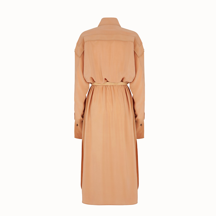 FENDI KLEID - Kleid aus Crêpe de Chine in Beige - view 2 detail