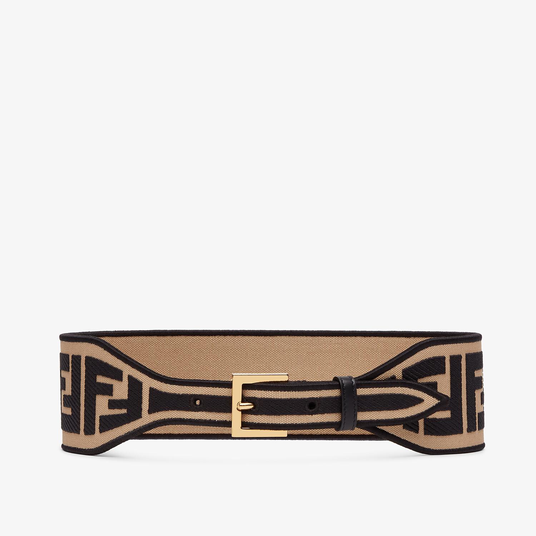 FENDI BELT - Brown canvas belt - view 1 detail