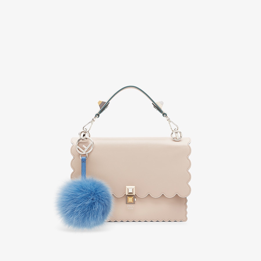 FENDI POM-POM CHARM - in light blue fur - view 2 detail