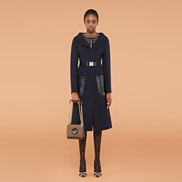 FENDI OVERCOAT - Blue cashmere overcoat - view 4 thumbnail