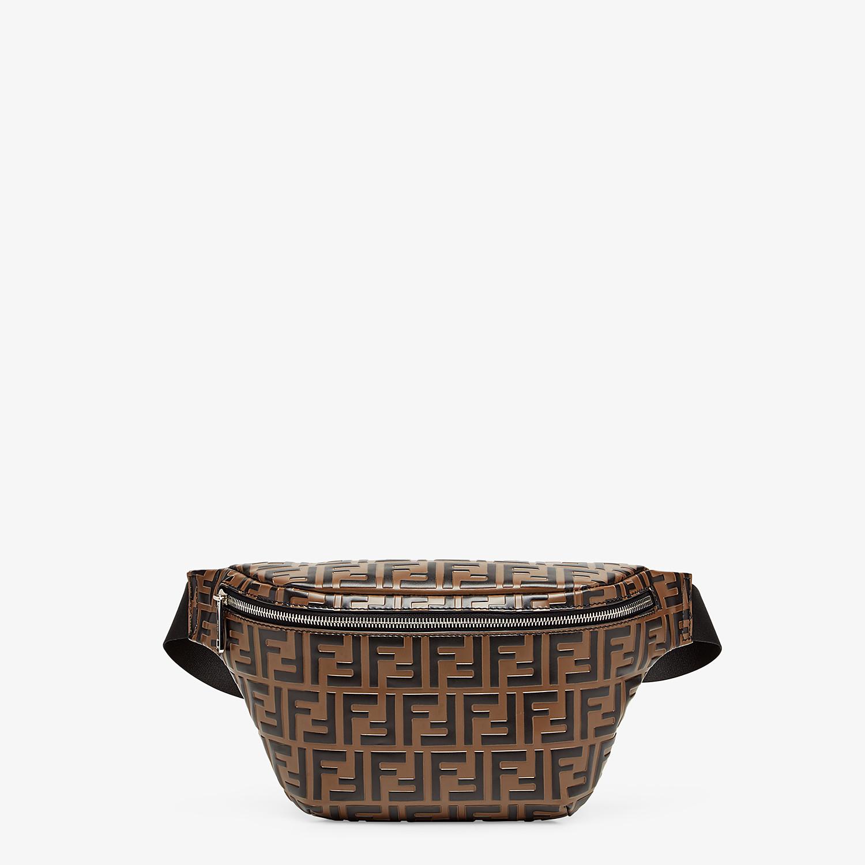 FENDI BELT BAG - Brown leather belt bag - view 1 detail