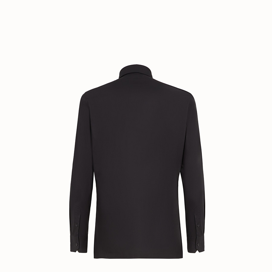 FENDI SHIRT - Black cotton shirt - view 2 detail